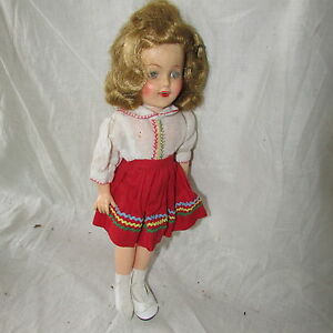 VINTAGE-12-034-SHIRLEY-TEMPLE-DOLL-1950-039-S-IDEAL-ST-12