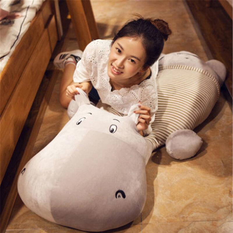 Stuffed Animals Hot Jumbo Hippo Plush Toys Giant 135cm Soft Hippo Pillow Gifts