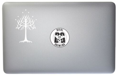White Tree of Gondor Lord of the Rings Vinyl Car Window Laptop Decal Sticker