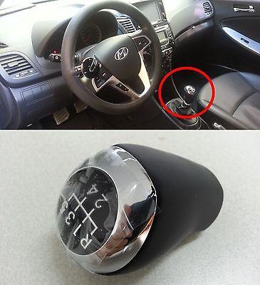 M/T Leather Gear Shift Knob 5Speed Hyundai Accent Solaris 2011 2012 2013 2014