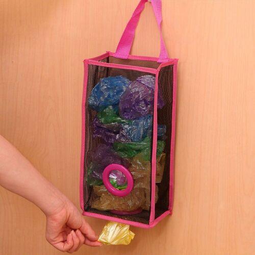 Garbage Kitchen Hanging PVC Breathable Mesh Shopping Storage Bag Foldable Bags