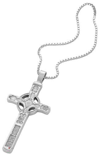 Pendant Cross Hallmarked Sterling Silver Based On Iona St John 45mm