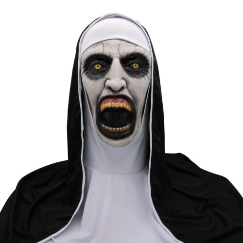 Adult Latex The Conjuring 2 Devil Nun Mask Props Cosplay Halloween Mask GJ267