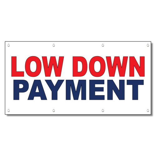 Low Down Payment Red Blue 13 Oz Vinyl Banner Sign With Grommets