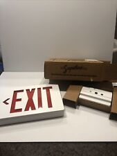 Signature Exit Sign White W 6 Red Led Letters 115x8 Arrow Left