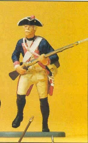 PREISER 1 24 24 24 SCALE FIGURES PRUSSIAN ARMY CIRCA 1756 MUSKETEER ADVANCING   54137 dc5531