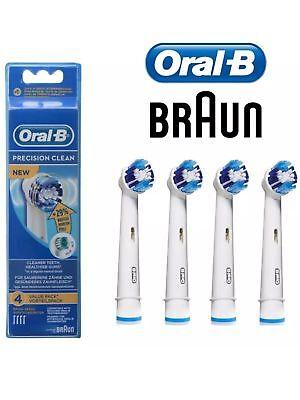 4x Oral-B Precision Clean Ricambio SpazzolePowered by Braun EB20-4