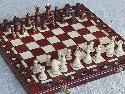 Sehr edles großes Schach Schachspiel LUX Holz NEU