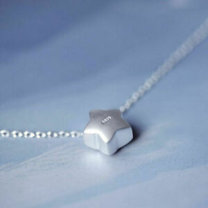 Women-Jewelry-925-Silver-Lovely-Little-Star-Pendant-Charm-Chain-Necklace-Gift