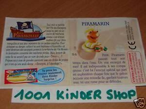 KINDER S-5 S5 LES PIRAMOLLIS PIRATELLI BPZ FRANCE 2005 QY6gjE0K-09164344-987698262