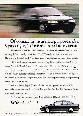 Classic Vintage Advertisement Ad H21 2003 Infiniti G35 Sedan