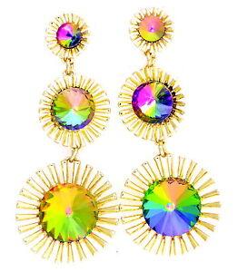 Chic-fashion-crystal-sunflower-drop-chandelier-earrings