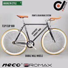 BK DUMA Single Speed Urban Lightweight Road Bike Black Orange Yellow