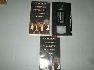 Carreras-Domingo-Pavarotti-In-Concert-Mehta-VHS-Tested