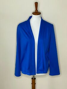 Chico's Size 1 Blue Royal Long Sleeve Open Front Cardigan Sweater Women's