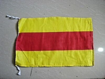 "Nautical // Boat 100/% Cotton – Marine Code L Naval Signal Flag 15/"" X 15/"""