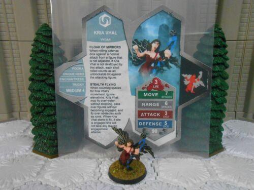 Heroscape Custom Kria Vhal Double Sided Card /& Figure w// Sleeve Vydar