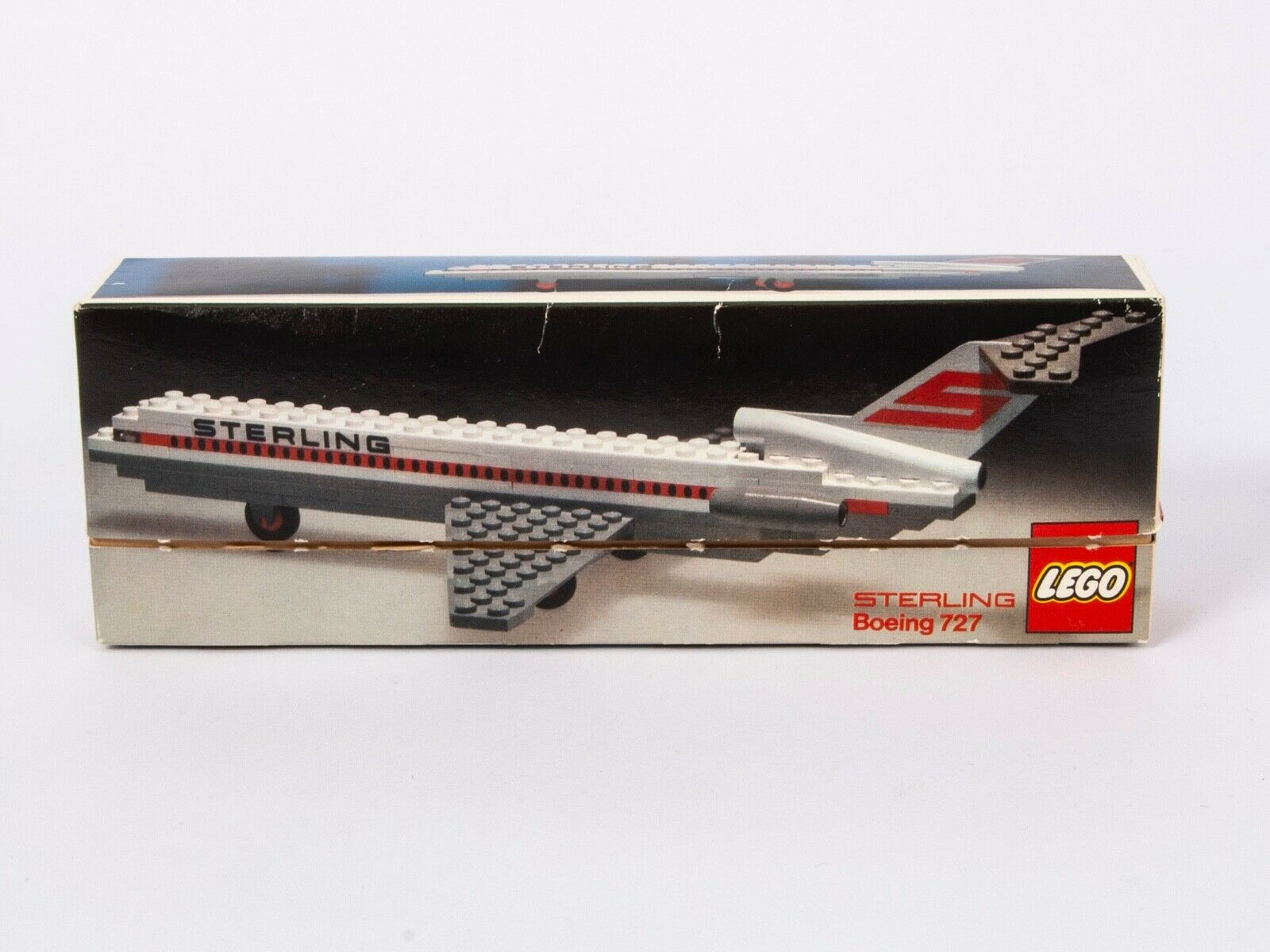 Lego Airport  Sterling Boeing 727 – 1552 – MIB – Mint sticker sheet (1974) Rare