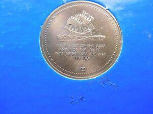 1/3 OZ JM JOHNSON MATTHEY 1882-1982 WESTON 100TH ANNIV BRONZE ROUND COIN RARE