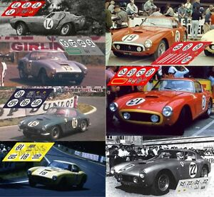 Calcas Ferrari 250 Gt Swb Le Mans 1960 1:32 1:24 1:43 1:18 Slot Decals