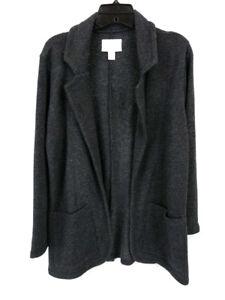 Caslon-Cardigan-Jacket-Blazer-Gray-Pockets-Size-S-Petite-New-with-Tags