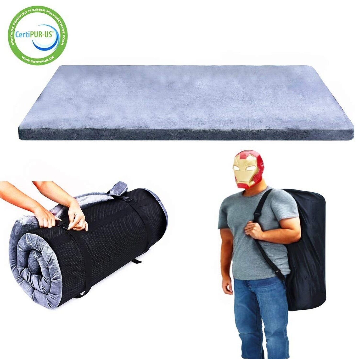Willpo Certipur-US Memory Foam Camping Mattress 75  x 30  x 2.75  Portable Sle...  hot limited edition
