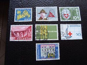 Switzerland-Stamp-Yvert-and-Tellier-N-704-A-710-Obl-A1-Stamp-Switzerland
