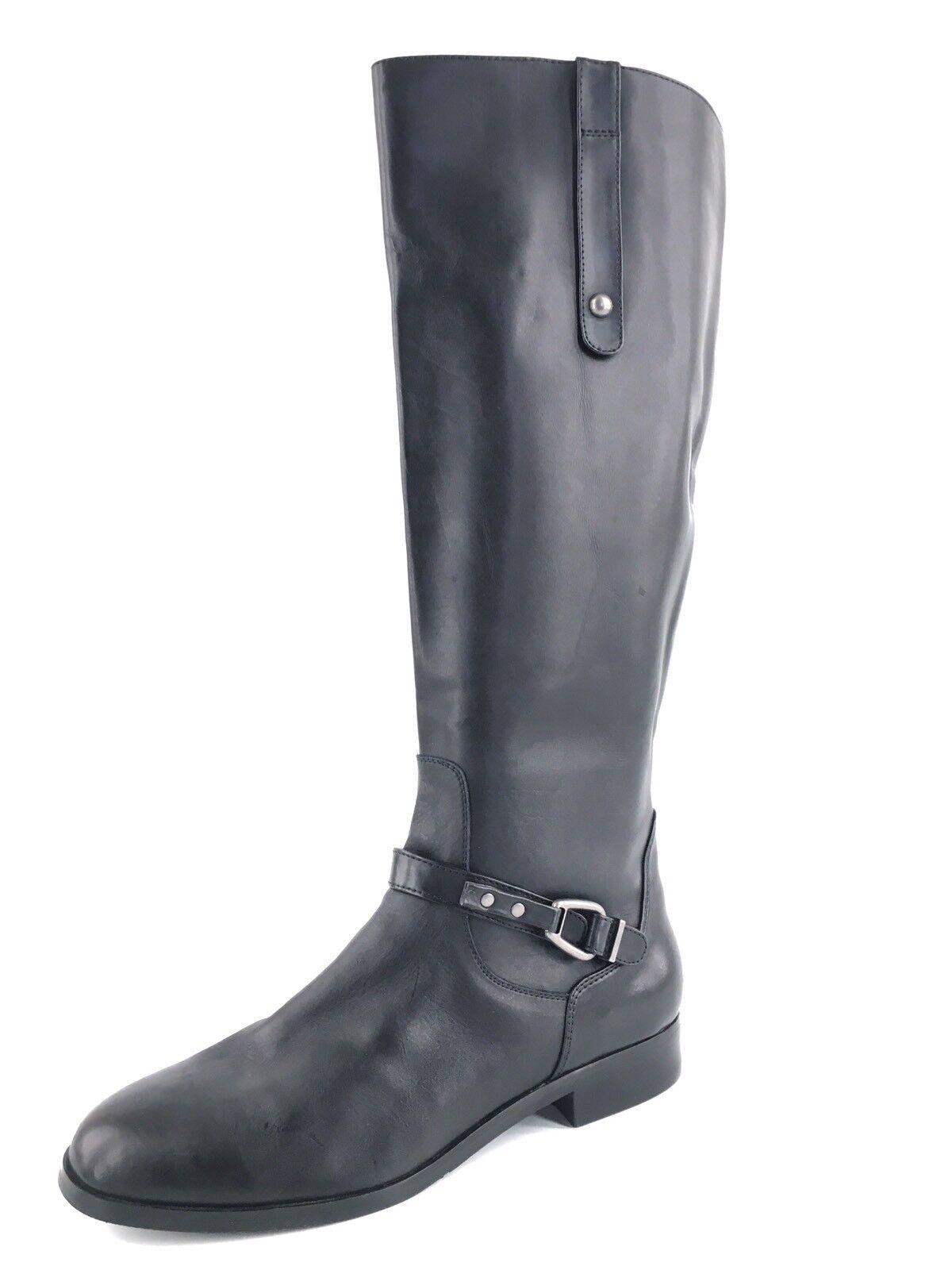 Charles David Rene Black Leather Knee High Riding Boots Women's Size 10 M*