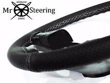 Para Mercedes W202 93-00 Volante Cubierta de cuero perforado blanco doble STT