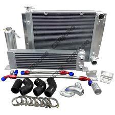 CXRacing Oil Cooler Radiator Hard Pipe Kit For Mazda RX7 RX-7 SA FA FB 13B Black