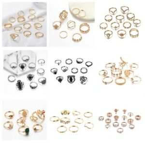 Bohemian-Gold-Silver-Midi-Finger-Ring-Set-Vintage-Punk-Boho-Knuckle-Ring-Jewelry