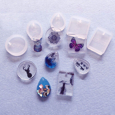 Prettyia Diamond Shaped Jewelry Mold Pendant Silicone Resin Making Mould Craft