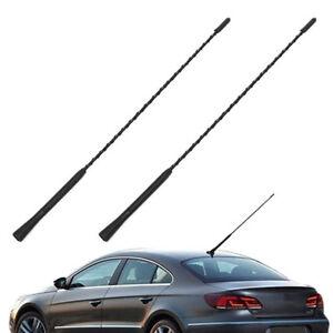 16-Replacement-Car-Radio-Stereo-Aerial-Bee-Sting-Mast-Antenna-Black-2-Screws