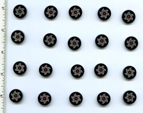 Round 2 x 2 with Metallic Silver Saw Blade Pattern NEW Ninjago LEGO x 20 Tile
