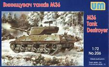 M36 JACKSON - WW II TANK DESTROYER (U.S ARMY MKGS)) 1/72 UNIMODELS