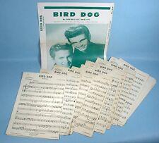 The Everly Bros. Bird Dog Orchestra Music Photo Folio 1958 with 15 Arrangements