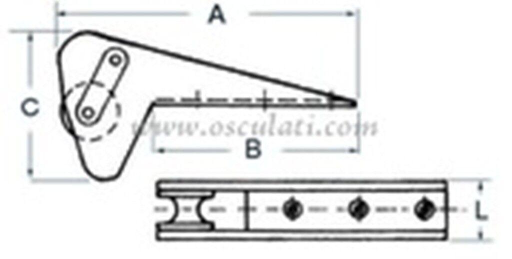 Bugrolle für Trefoil Anker Anker Trefoil bis 15 KG, für klibrierte Kette 480 mm lang 01.341.96 dc8e92