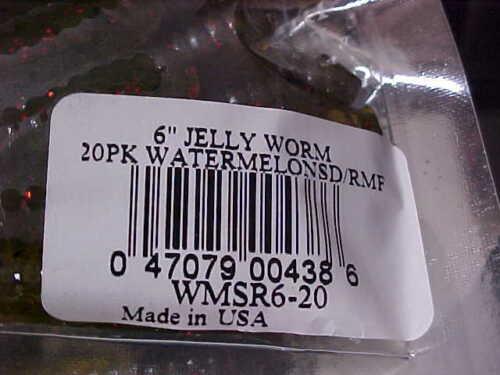 """MANN/'S #1 vend Bass Ver depuis 1967 wmsr 6-20 /""""watermelonseed Rouge Metal Flake/"""""""