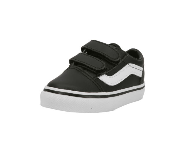 de71948b49 Vans Infants Babies Toddlers Shoes Old Skool Tunble Leather (Synthetic)  Black