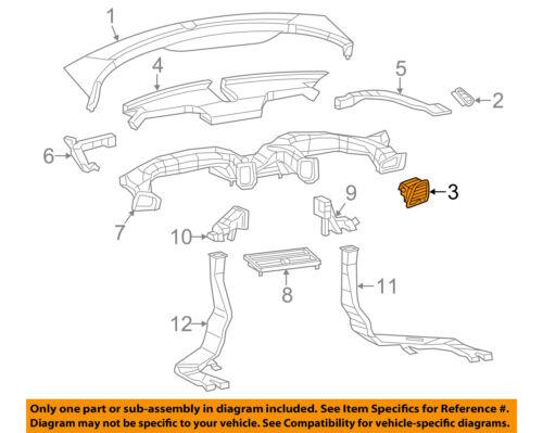 Dodge CHRYSLER OEM Dart Instrument Panel Dash-Air Vent Grille Right 1SV17DX9AB