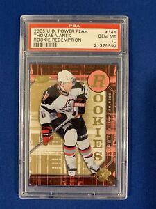 THOMAS-VANEK-PSA-10-2005-06-UPPER-DECK-POWER-PLAY-ROOKIE-CARD-144