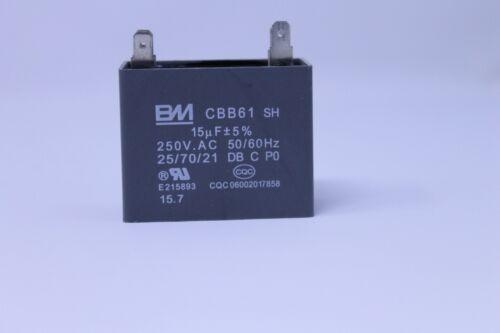 CBB61 CAPACITOR 15uF 5/% 250VAC  50//60 Hz
