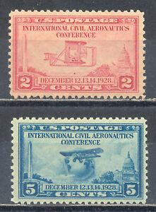 US-Stamp-L1683-Scott-649-650-Mint-HR-OG-Nice-Vintage-Commemoratives