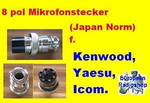 Microphone-Connecteur-pour-radios-8-pol-Japon-male-F-ICOM-yaesu-KENWOOD
