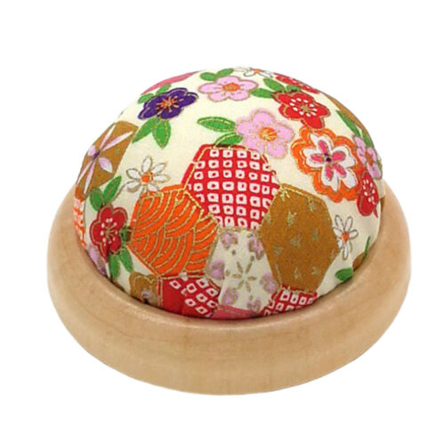 Wood Base Pin Cushions for Sewing Patchwork Embroidery Pin Holder DIY Craft