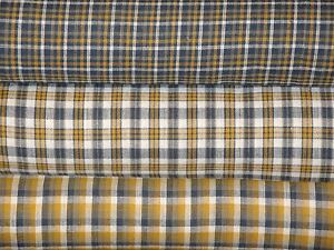 Image Is Loading Navy Plaid Homespun Fabric Arel Quilt