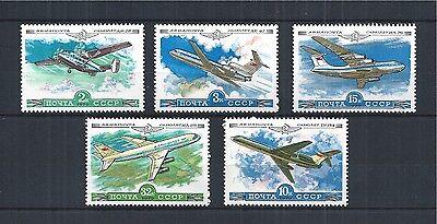 Briefmarken Willensstark Sowjetunion Ussr 1979 Min 4843-4846 4912 ** Aircraft Flugzeuge Air Mail Russland & Sowjetunion