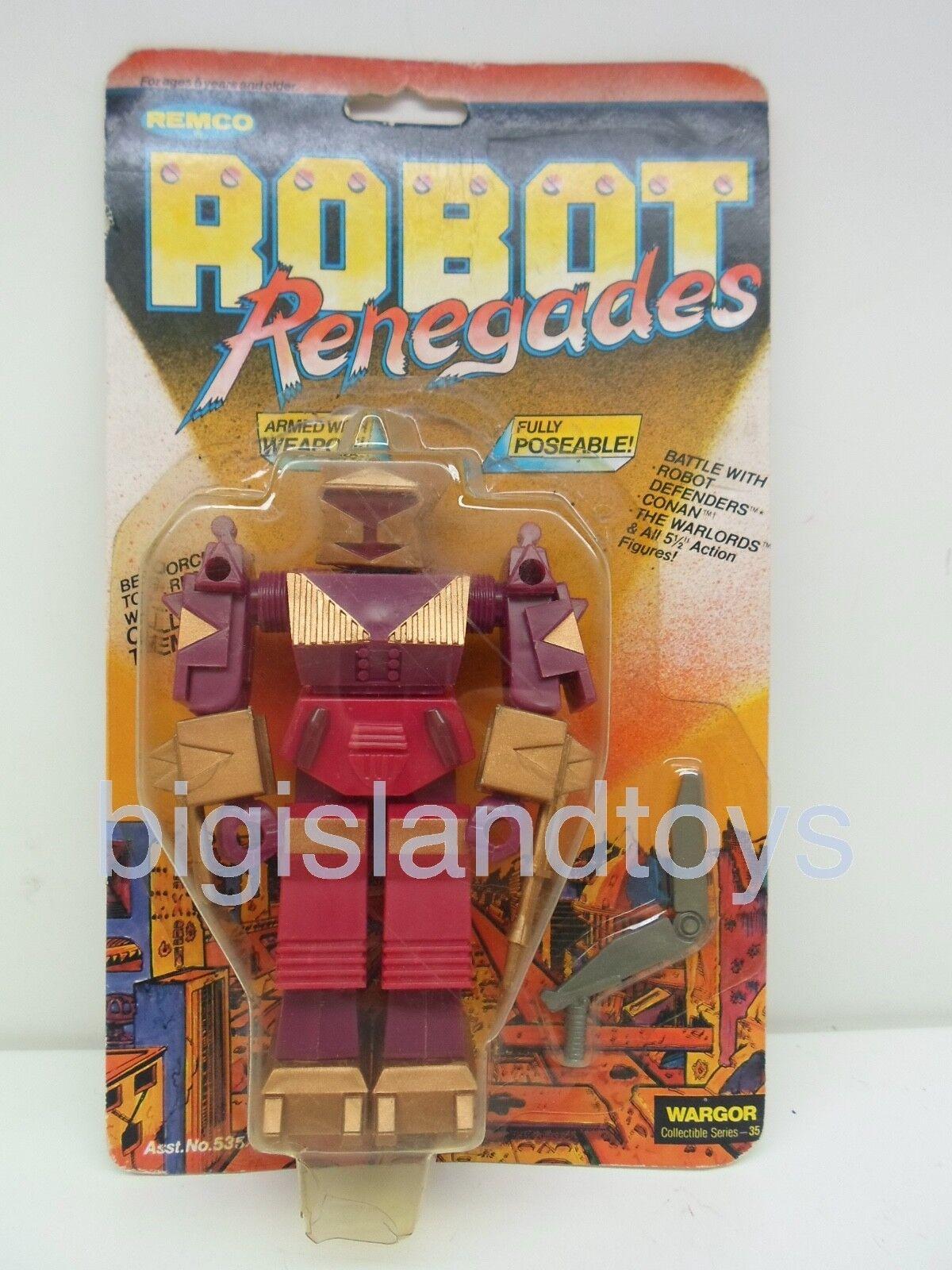 Robot Defenders & Renegades Remco 1982 Wargor Action Figure Sealed