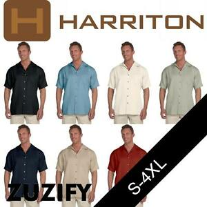 0dbe646c391 Image is loading Harriton-Mens-Bahama-Cord-Camp-Shirt-M570