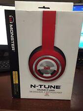 Monster N-Tune Colour It Loud Headphones Red